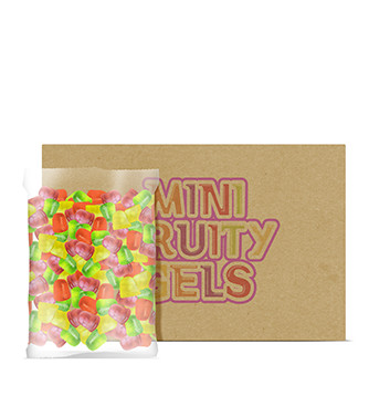 Caja de Mini Gelatinas Mini Fruity Gels® Bolsa Tradicional/Tropical - 6x1500g