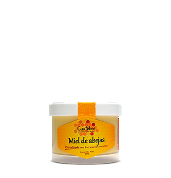 Miel de Abeja Cristalizada Natural Guatebee® - 300 g
