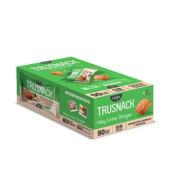 Snack Vegano TRUSNACK® Sabor a Limón Jengibre - 12x30g