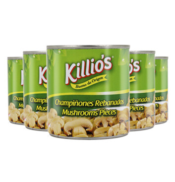 Champiñones Rebanados Kilio's - 5 U - c/u 400 g