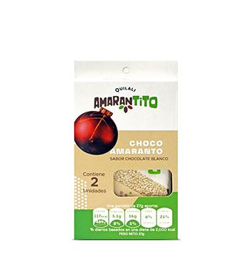 Barras Amaranto Quilali® - Chocolate Blanco -2 unidades - 54g