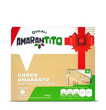 Barras Amaranto Quilali® - Chocolate Blanco - 6 unidades - 162g