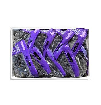 Caja de Uva negra sin semillas - 18 Libras