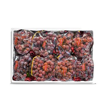 Caja de Uva roja sin semillas - 18 Libras