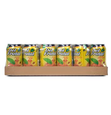 Caja de Jugos en Lata Del Frutal® Sabor Melocotón - 24x300ml