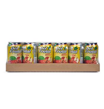 Caja de Jugos en Lata Del Frutal® Sabor Manzana - 24x300ml