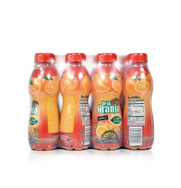 Caja de Jugos de Naranja con Pulpa De La Granja® - 12x235ml