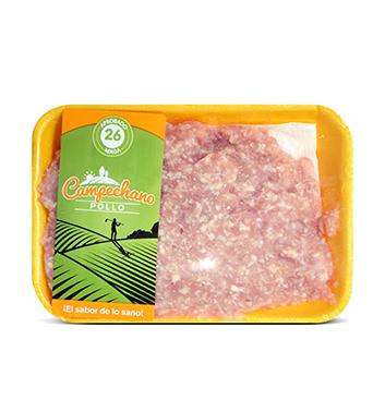 Carne Molida de Pollo -  Pollo Campechano® - 1 Libra - Bandeja