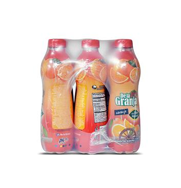 Caja de Jugos de Naranja con Pulpa De La Granja® - 12x500ml