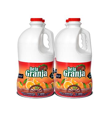 Caja de Jugos de Naranja con Pulpa De La Granja® - 4x1.89Litros