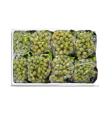 Caja de Uva verde sin semillas - 18 Libras