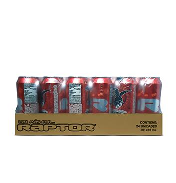 Caja con Bebidas Energizante Raptor® - 24x475 ml