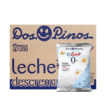 Caja con Leche en Polvo inLine Descremada Dos Pinos® - 24x400g