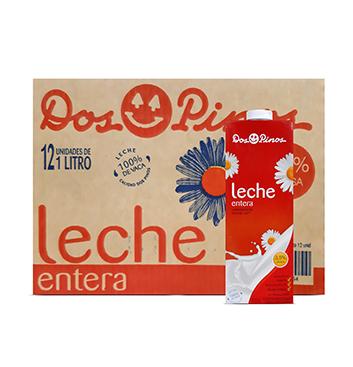 Caja con Leche Entera Dos Pinos® - 12x1 Litro
