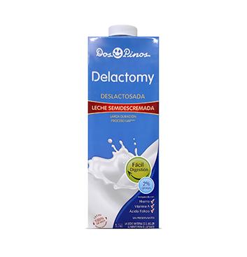 Leche Delactomy Semidescremada Dos Pinos® - 1 Litro