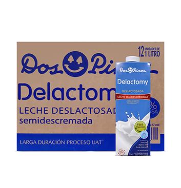 Caja con Leche Delactomy Semidescremada Dos Pinos® - 12x1 Litro