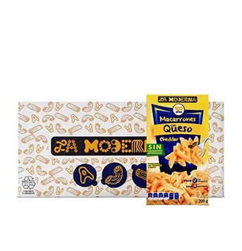 Caja de Macarrones con Queso La Moderna® - 20x200g