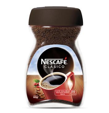 Nescafé Clásico Café Instantáneo Frasco 60g