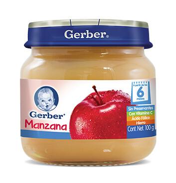 GERBER® Paso 2 Colado Manzana - Alimento Infantil - Frasco 100g