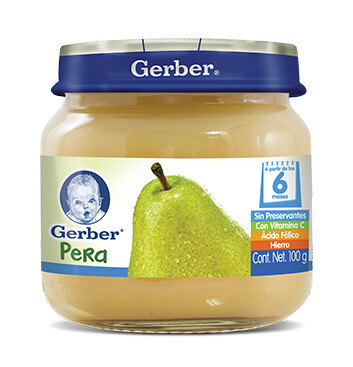 GERBER® Paso 2 Colado Pera - Alimento Infantil - Frasco 100g