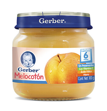 GERBER® Paso 2 Colado Melocotón - Alimento Infantil - Frasco 100g