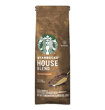 Starbucks® House Blend - Tueste Medio Café Tostado y Molido - Bolsa 250g
