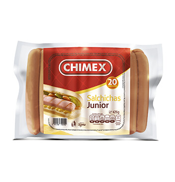 Salchicha Junior - Chimex - 20 Unidades/paquete - 426g