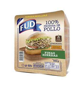 Pechuga de pollo - Fud - 250g - Sabor Finas Hierbas