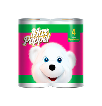 Papel higiénico - Max Pappel® - Fucsia - 4 Unidades - 400HD
