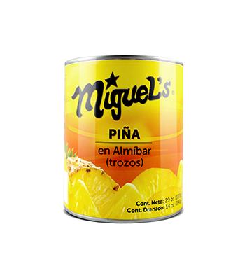 Piña en Trozos en Almíbar Miguel's® - 29 oz