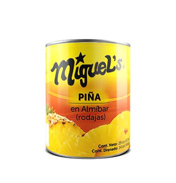 Piña en Rodajas en Almíbar Miguel's® - 29 oz