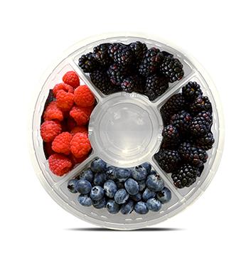 Clamshell Mix Berries - Planesa - 12oz - Sabores mora, frambuesa y arándano