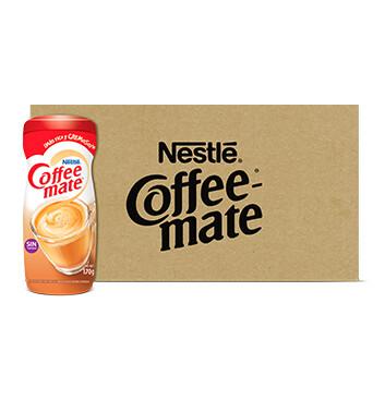 CAJA COFFEE MATE® Original Sin Lactosa Sustituto de Crema en Polvo Tarro 12 X 170g