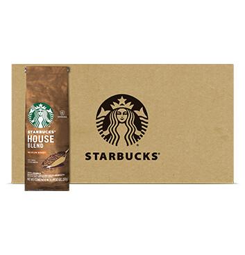 Caja Café House Blend - Medium - Starbucks - 12 Un - 250g