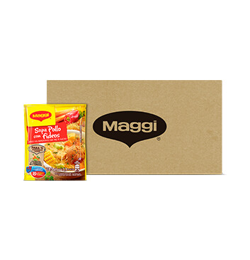 CAJA MAGGI® Sopa de Pollo con Fideos Libre de gluten Sobre 12 X 57g