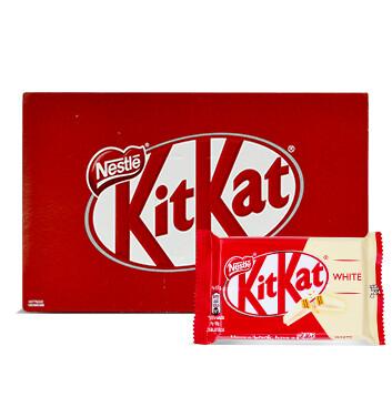 Caja Chocolate Blanco - 4 dedos - KIT KAT - 24 Unidades - 41.5g