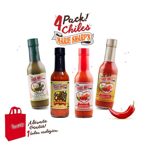 4Pack! Chiles Marie Sharp's®