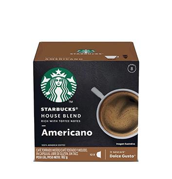 12 Cápsulas Medium House Blend Starbucks® - 102 g