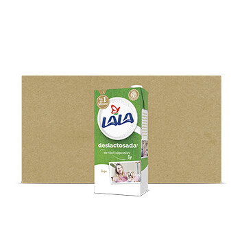 Caja Leche Lala - Deslactosada - 12 X 1Lt Slim C/Tapa