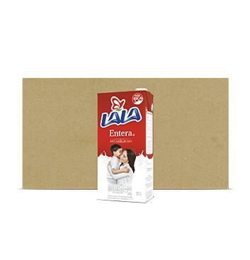 Caja Leche Lala - Entera - 12 X 1Lt Slim C/Tapa