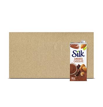Caja con Leche de Almendra Chocolate Silk® - 6x946 ml