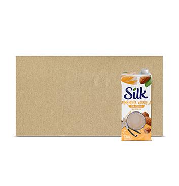 Caja con Leche de Almendra Silk® Vainilla Sin Azúcar - 6x946 ml
