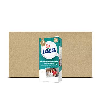 Caja Leche Delactosada Light Lala® - 12U x 1 Litro