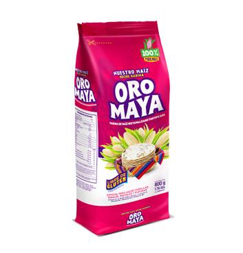 Bolsa Harina de maíz blanco - Alcsa - Oro Maya - 800g