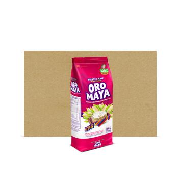 Fardo de Bolsa Harina de maíz blanco - Alcsa - Oro Maya - 6x800g