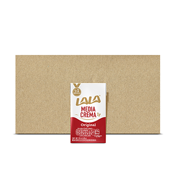 Caja con Media Crema Lala® - 12x500 ml
