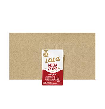 Caja con Media Crema Lala® - 12x500 ml