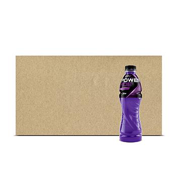 Fardo de Hidratante Powerade® Uva Morada PET - 12x600 ml