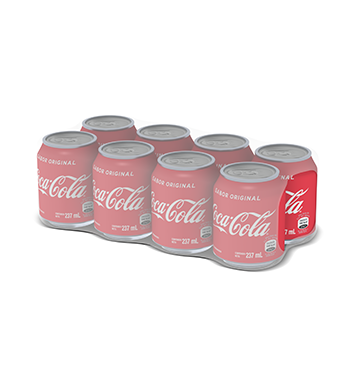 8 Pack Mini Coca Cola® Sabor Original Lata - 8x237 ml