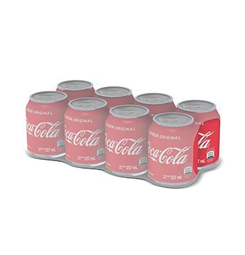 8 Pack Mini Coca Cola® Sabor Original Lata - 8x237 ml